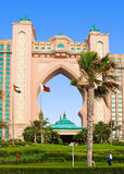 DUBAI - JUNE 3: The famous Atlantis hotel on the Palm Island Royalty Free Stock Photo