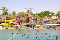 DUBAI-JUNE 6: Wild Wadi Water Park on June 6,2009 in Dubai. Royalty Free Stock Photography