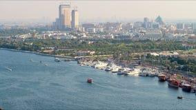 Dubai 4k time lapse from deira area stock video footage