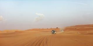 Dubai Ökenkörning Royaltyfri Bild