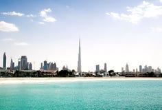 Dubai.l Strand Royalty-vrije Stock Foto's