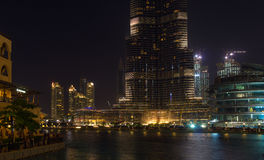 Dubai - lago Burj Khalifa Imagem de Stock