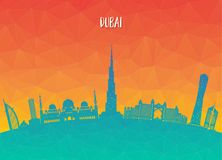 Dubai Landmark Global Travel And Journey paper background. Vecto. R Design Template.used for your advertisement, book, banner, template, travel business or Stock Images