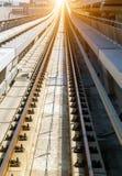 Dubai Lines Metro traffic. Dubai Metro Network traffic line on the urban landscape UAE, construction automated metro subway systems stock images