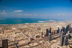Dubai-Luftaufnahme stockbilder