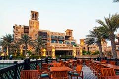 Dubai Luxury Hotel. An evening shot of the Mina Salam Hotel at the Madinat Jumeirah in Dubai stock images