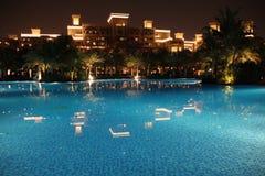 Dubai * Madinat Jumeirah * Al Qasr pool. * night view Stock Photos