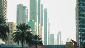 Dubai main road buildings 4k time lapse Royalty Free Stock Image