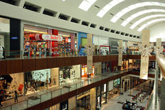 The Dubai Mall. Is the the world's largest shopping mall, with more than 1200 shops Stock Photography