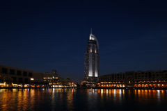 The Dubai Mall and The Address Hotel at Dusk Stock Image