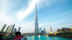 Dubai mall area day 4k time lapse Royalty Free Stock Image