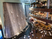 Dubai Mall art installations. Opposite cafes royalty free stock image