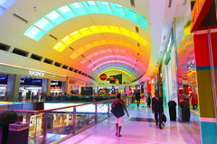 Dubai Mall Color entrance. DUBAI, UAE - April 18: entrance of Dubai mall - Real Estate Investment at Dubai - UAE Stock Photos