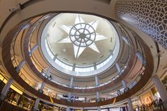 The Dubai Mall. Is a shopping mall in Dubai and the largest mall in the world Royalty Free Stock Photography