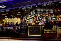 Dubai Mall in Dubai. Markette restaurant in Downtown Dubai Mall, Dubai Stock Photography