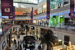 Dubai Mall in Dubai, UAE. The Dubai Mall is the world's largest shopping mall based on total area and thirteenth largest by gross leasable area Stock Images