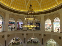 Dubai Mall in Dubai, UAE. The Dubai Mall is the world's largest shopping mall based on total area and thirteenth largest by gross leasable area Stock Photography