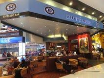 Dubai Mall in Dubai, UAE. Caffe Nero at Dubai Mall in Dubai, UAE. The Dubai Mall is the world's largest shopping mall based on total area and thirteenth largest Royalty Free Stock Photo