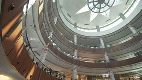Dubai Mall interior is the world`s largest shopping center royalty free stock image