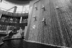 The Dubai Mall. DUBAI - OCTOBER 15, 2014: interior of the Dubai Mall. The Dubai Mall located in Dubai, it is part of the 20-billion-dollar Downtown Dubai complex Stock Image