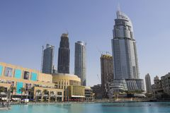 The Dubai Mall scenery. Scenic view of the Dubai Mall, United Arab Emirates Stock Photo