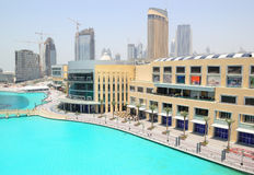 Dubai Mall shopping and entertainment center. In Dubai Downtown, United Arab Emirates Royalty Free Stock Images