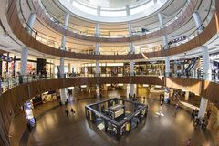 The Dubai Mall. Is a shopping mall in Dubai and the largest mall in the world Stock Image