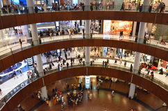 The Dubai Mall. Is a shopping mall in Dubai and the largest mall in the world by total area Royalty Free Stock Photography