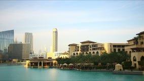 Dubai mall tourist area 4k time lapse stock video