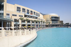 Dubai Mall in UAE on a sunny day Royalty Free Stock Image