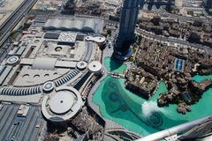 Dubai Mall View. DUBAI, UAE - SEP 29, 2014: An aerial view of the Dubai Mall on Sep 29, 2014 Royalty Free Stock Photography