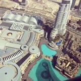 Dubai-Mall von oben Stockfotos
