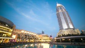 Dubai mall walking area 4k time lapse stock footage