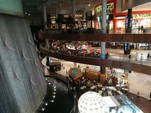Dubai Mall Water Fall Royalty Free Stock Image