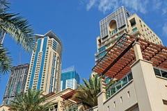 Dubai Marina. Skyscrabers in the Dubai Marina area Stock Photos