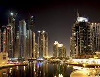 Dubai Marina. At the night