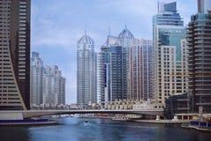 Dubai Marina. Big city, Dubai Marina, United Arab Emirates Royalty Free Stock Image