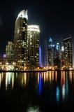 Dubai marina. Tall building and the reflections on dubai marina Royalty Free Stock Photos