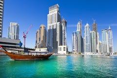 Dubai marina Arkivbilder