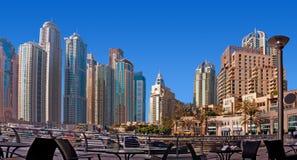 Dubai marina Arkivfoto