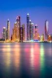 Dubai marina. Arkivfoton