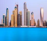 Dubai marina. Fotografering för Bildbyråer