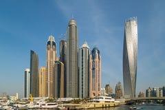 Dubai marina Royaltyfria Foton