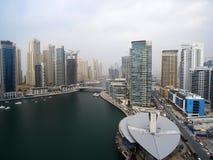 Dubai Marina. View of the Dubai Marina construction Royalty Free Stock Images
