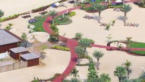 Dubai marina apartment beach view time lapse stock video footage