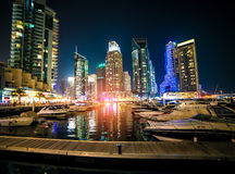 Dubai Marina is an artificial canal city Royalty Free Stock Photos