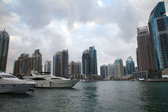 Dubai Marina Bay fotos de archivo libres de regalías