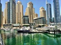 Dubai Marina Bay Arkivbild