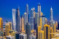 Dubai Marina Bay Area Stock Photography
