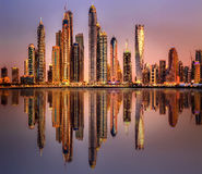 Dubai Marina bay, UAE Royalty Free Stock Images